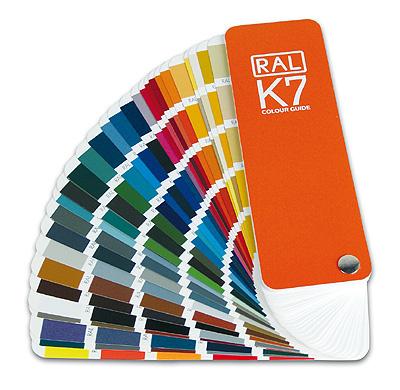 Выбор цвета окраски стекла по палитре RAL